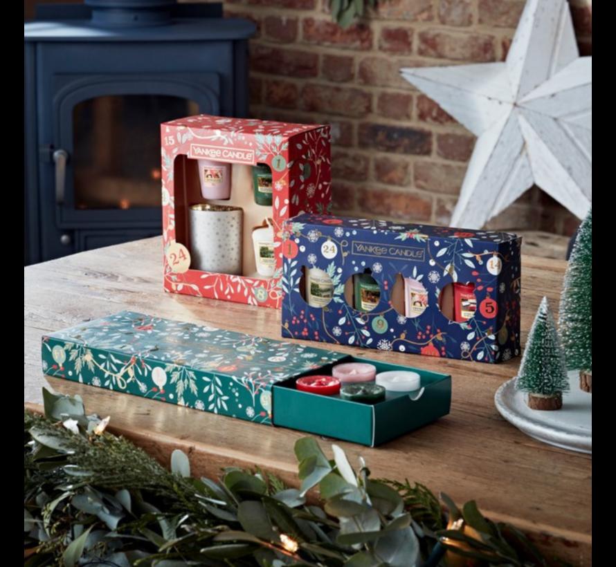 Countdown To Christmas 3 Votives & 1 Holder Gift Set