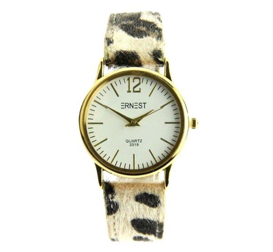Leo Watch Beige - Horloge