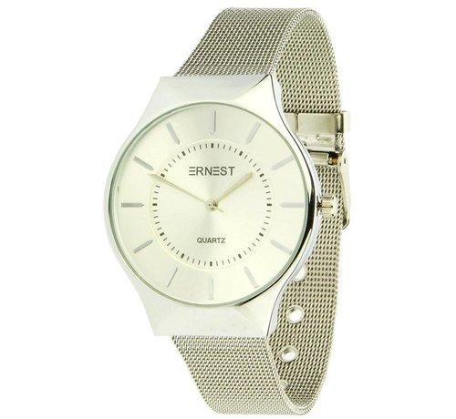 Ernest Just In Time - Zilver - Horloge