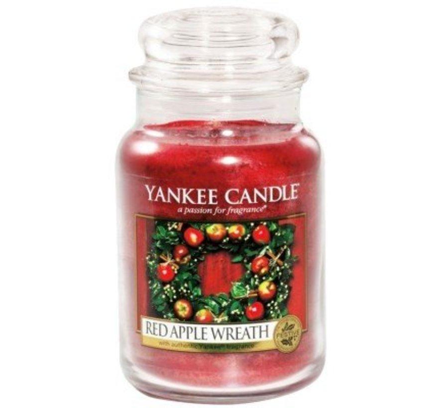 Red Apple Wreath - Large Jar