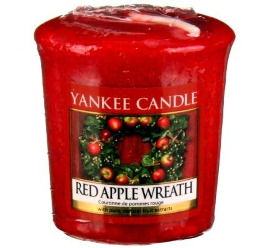 Red Apple Wreath - Votive