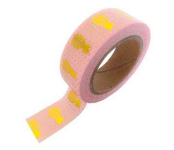 Studio Stationery Masking Tape - Pink Gold Pineapple