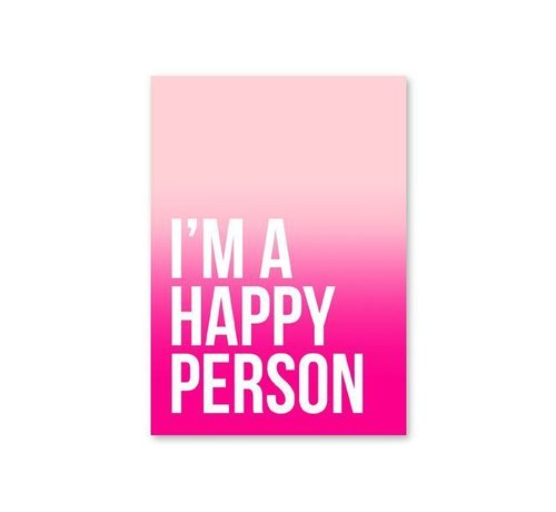 Studio Stationery Kaart - I'm A Happy Person
