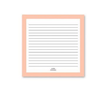 Studio Stationery Square Notes Pink