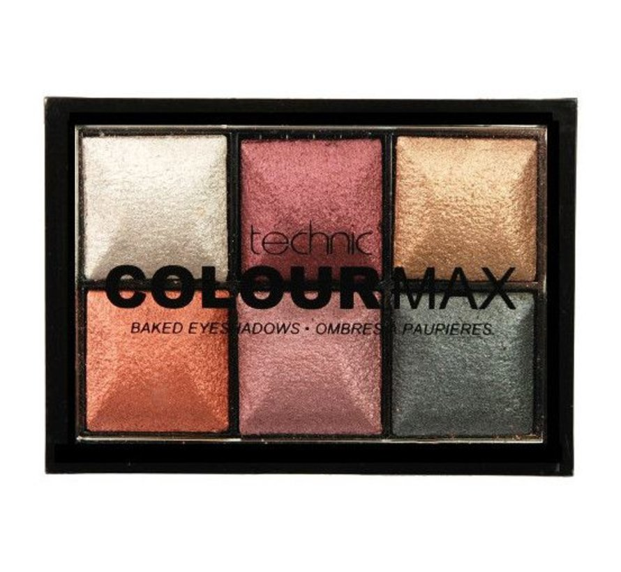 Colourmax Baked Eyeshadows - Treasure Chest Palette
