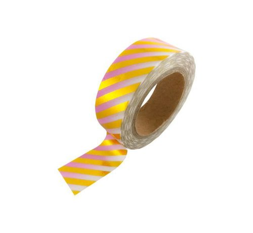 Studio Stationery Masking Tape - Pink Gold Foil