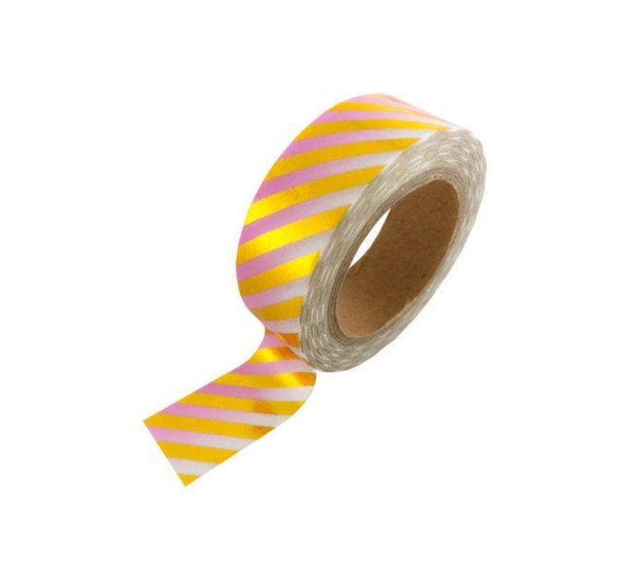 Stationery Masking Tape - Pink Gold Foil