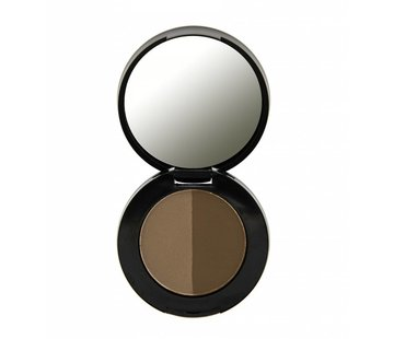Freedom Makeup Duo Eyebrow Powder - Dark Brown