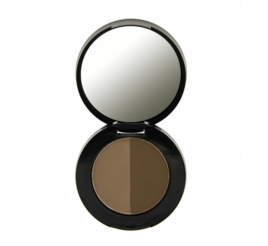 Duo Eyebrow Powder - Dark Brown