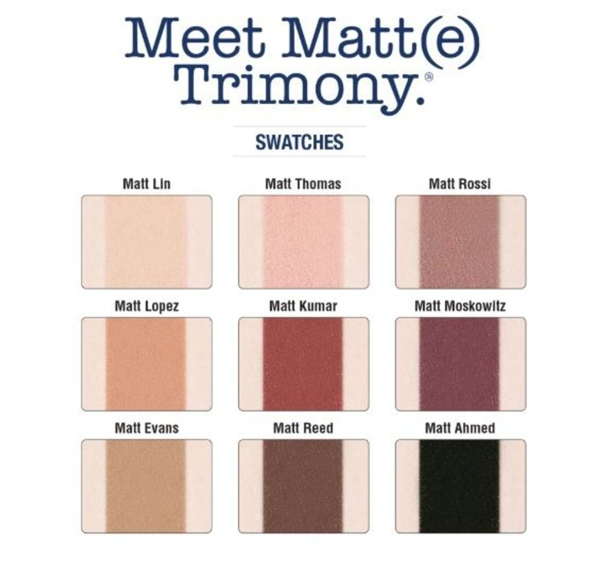 Meet Matt(e) Trimony - Oogschaduw Palette