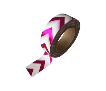 Stationery Masking Tape - Pink ZigZag