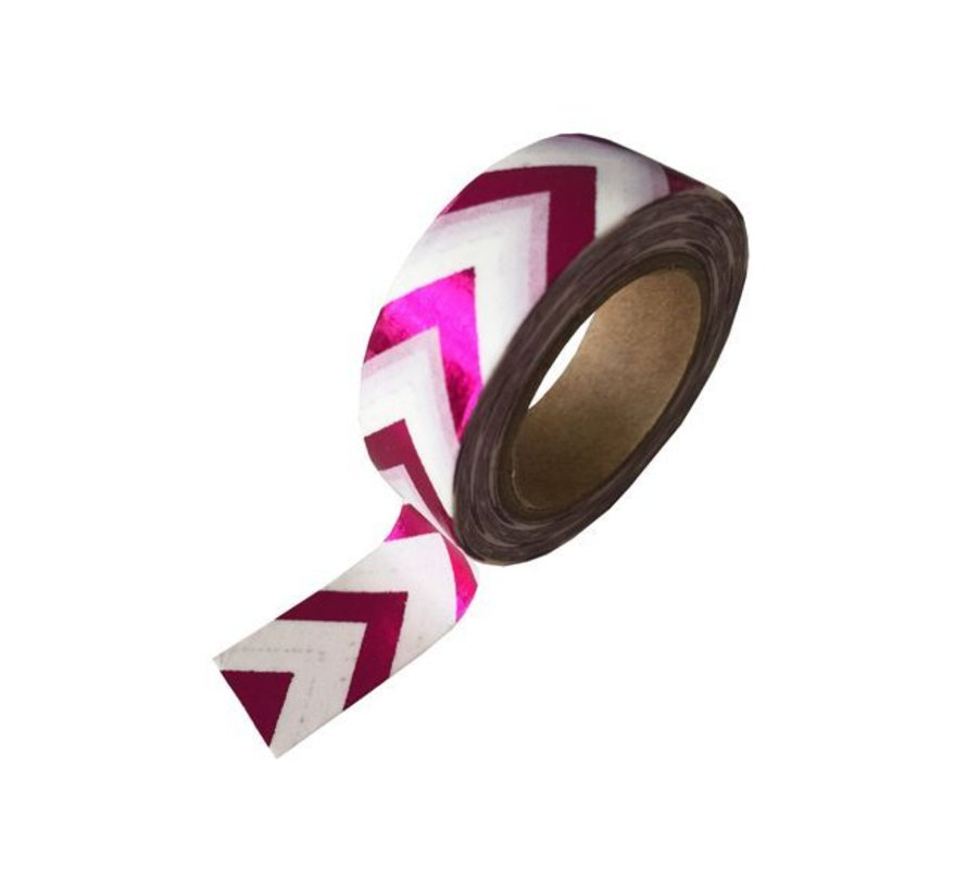 Masking Tape - Pink ZigZag