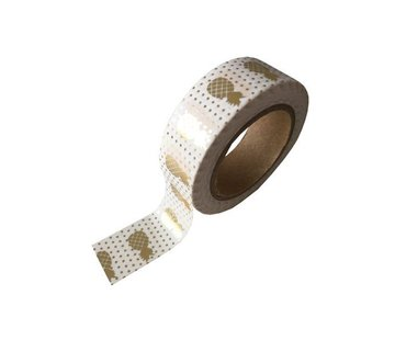 Stationery Masking Tape - Golden Pineapples