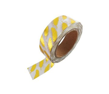 Studio Stationery Masking Tape - Gold Feathers