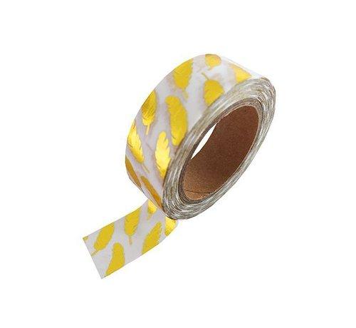 Masking Tape - Gold Feathers