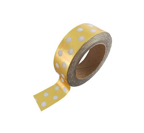 Studio Stationery Masking Tape - Gold & White Dotted