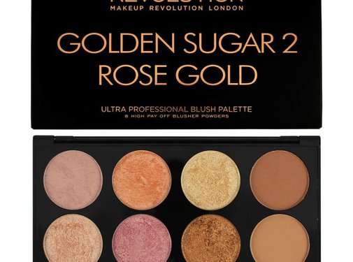 Makeup Revolution Ultra Blush & Contour Palette - Golden Sugar 2 Rose Gold