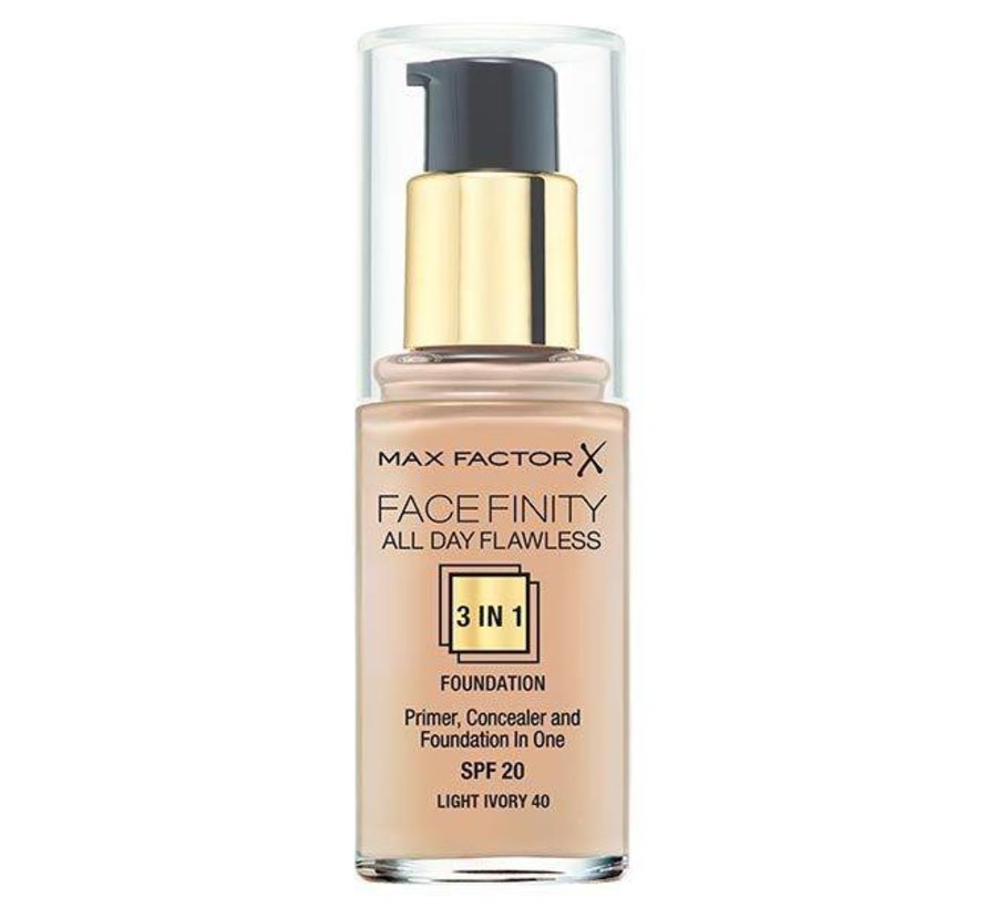 Facefinity 3 in 1 - 40 Light Ivory - Foundation