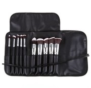 Brush Set 10 Piece Black & Silver