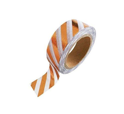 Stationery Masking Tape - Koper Stripe