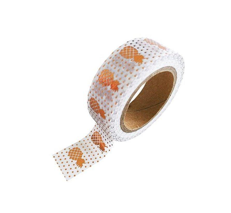 Masking Tape - Copper Pineapples