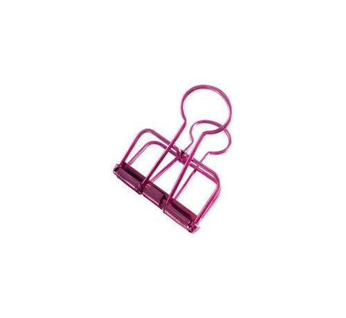 Stationery Binder Clips - Pink