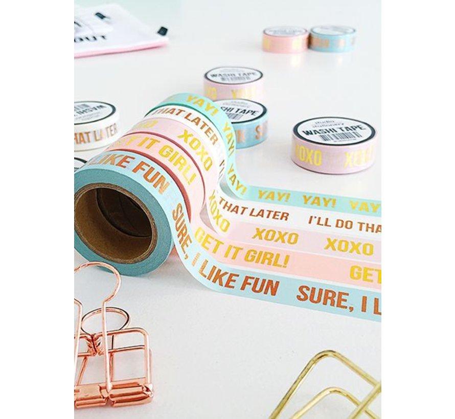 Stationery Masking Tape - YAY