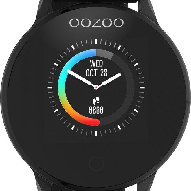 Oozoo smart watch rubber bandje  volledig zwart