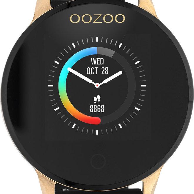 Oozoo smart watch rubber bandje rose/zwart