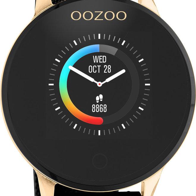 Oozoo smart watch goud/zwart mesh