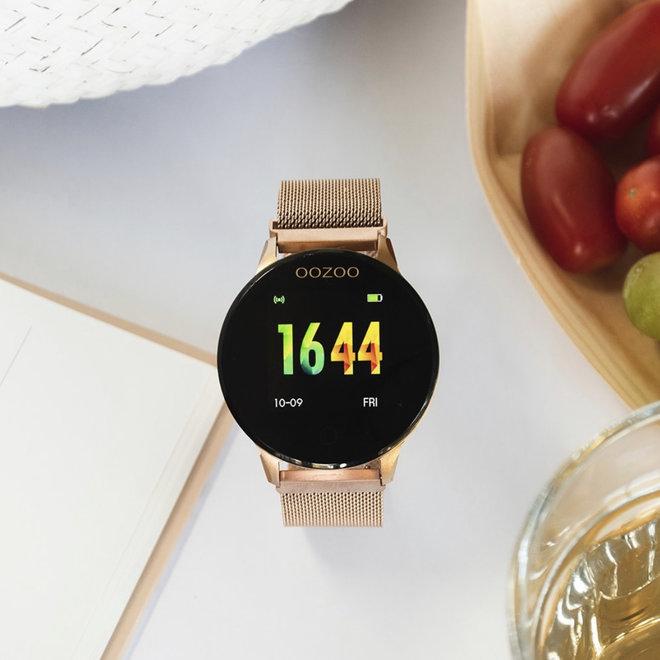 Oozoo smart watch goud mesh