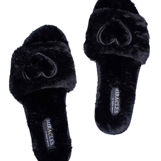 pantoffels miracles hartje zwart
