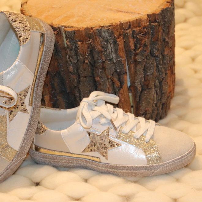 sneakers beige met ster fy 0352