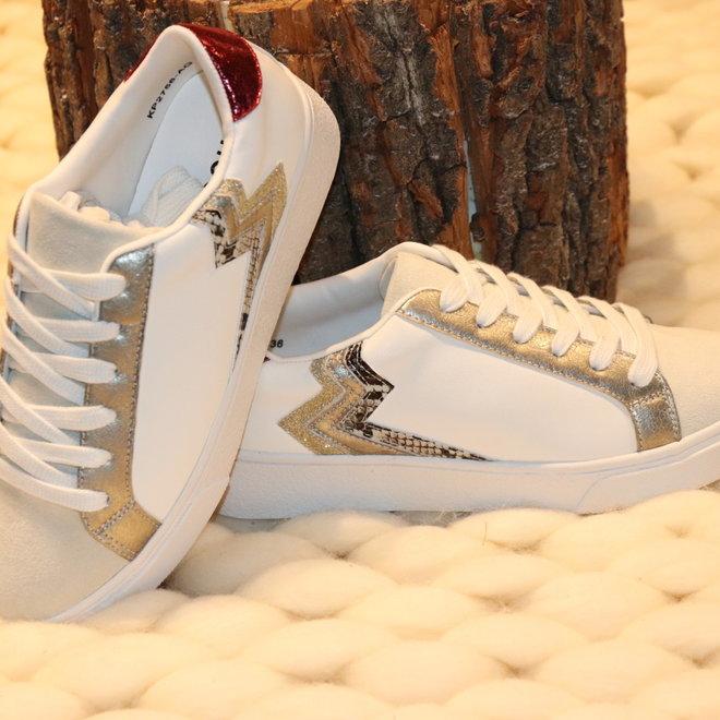 sneaker wit zilver kp 2756