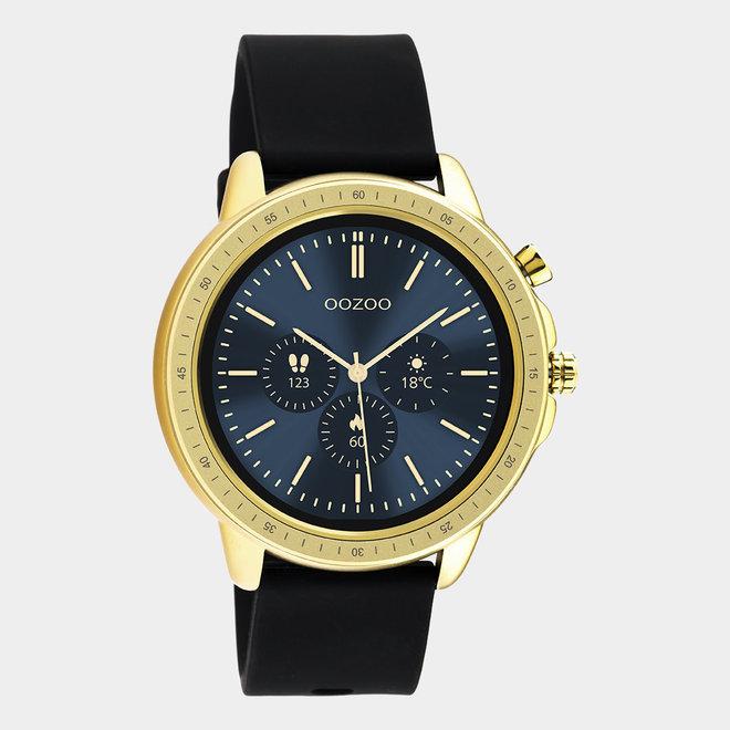 oozoo smartwatch unisex rubber horlogeband zwart/goud