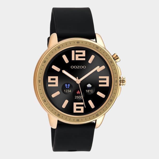 oozoo smartwatch unisex rubber horlogeband zwart/rose