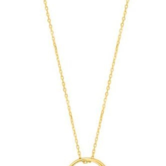 luxe circle necklace N024-01