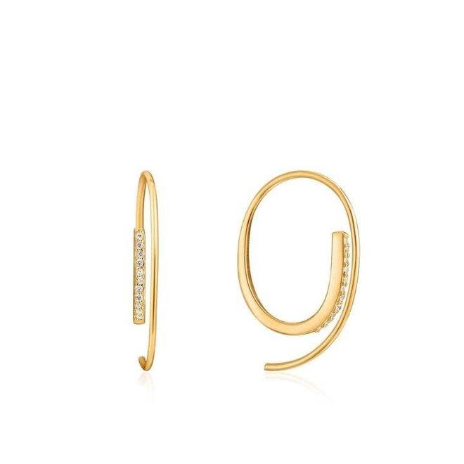 twist trough sparkle earring E023-07