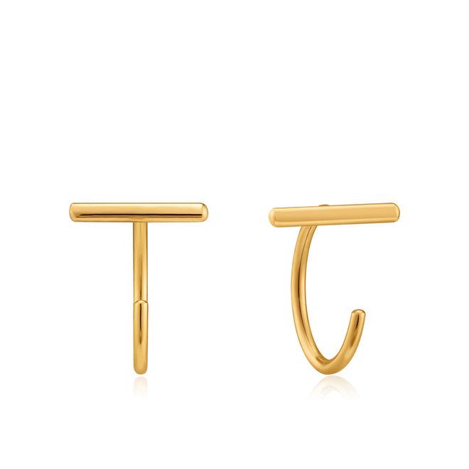 T-bar twist earrings e023-09