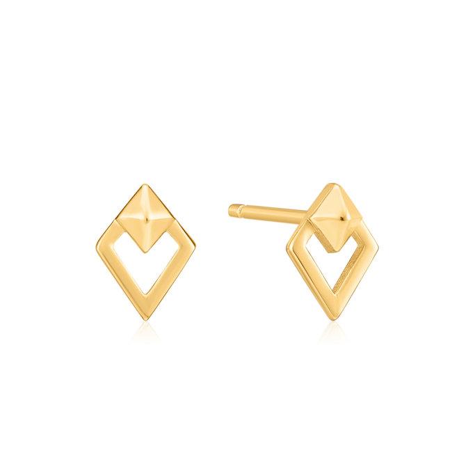 spike diamond stud earrings E025-08