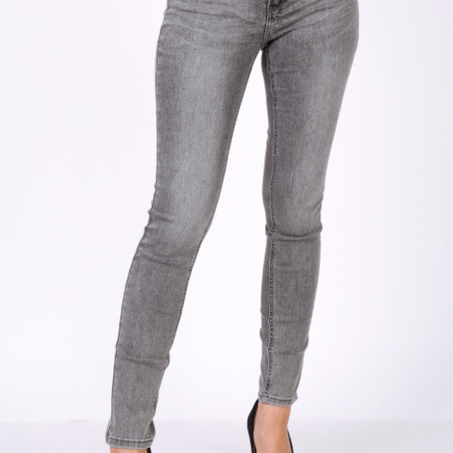 Jeans Toxik donkergrijs skinny normale taille g0362