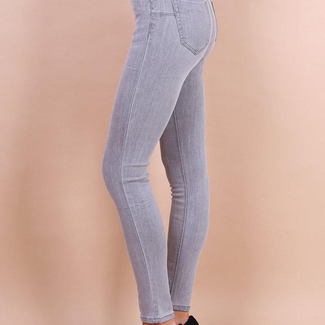 Jeans toxik lichtgrijs skinny normale taille 20702-1