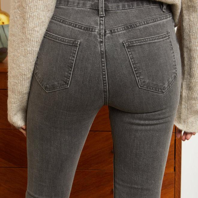 r display skinny hoge taille d1250 grijs jeans