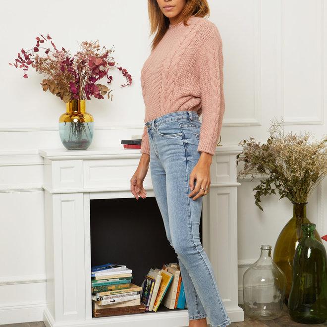 r display hoge taille skinny  lichte jeans dd1252