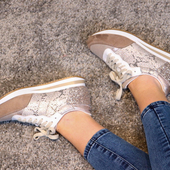 sneakers gold  snake FY0389-2