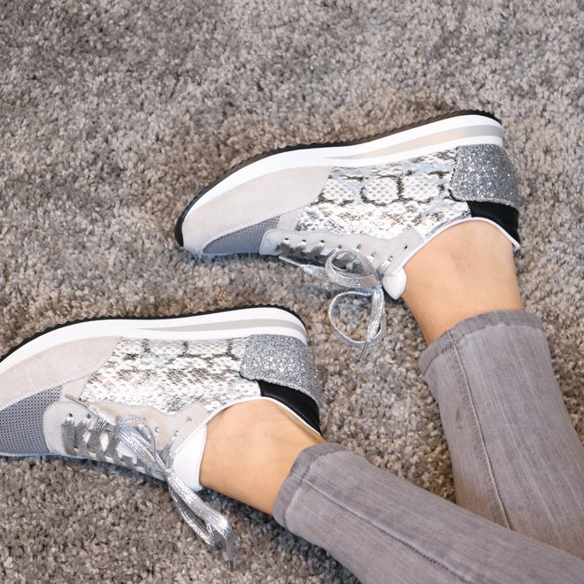 sneakers zilver snake FY0389-3