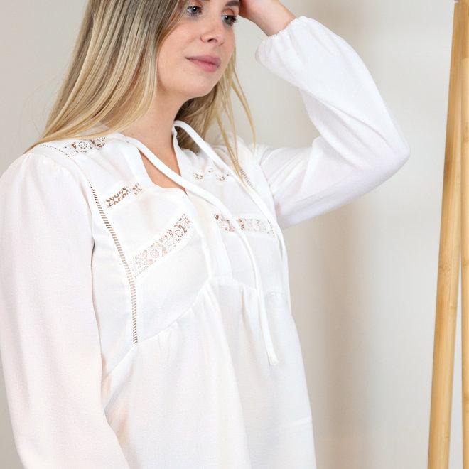 hemdje wit met doorzichtige kanten stukjes los model KB20T605