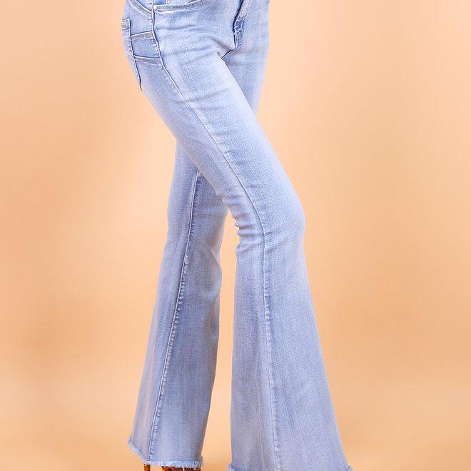 Toxik H2510-1 wijde pijp jeans