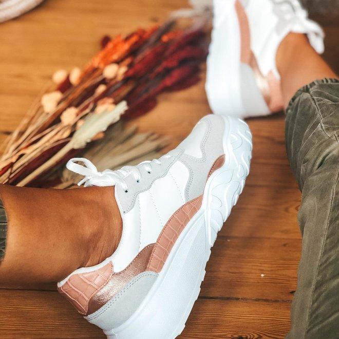 sneaker wit/roze/rozé 6135