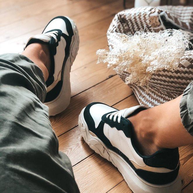 sneaker beige/zwart 6135